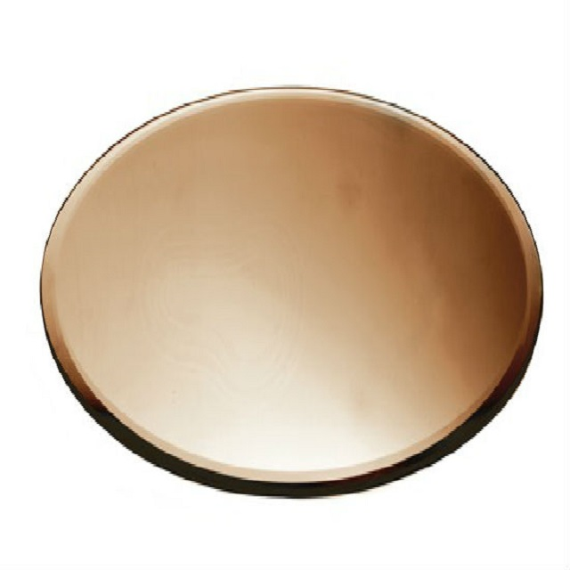 Rose Gold Glass Mirror Plate